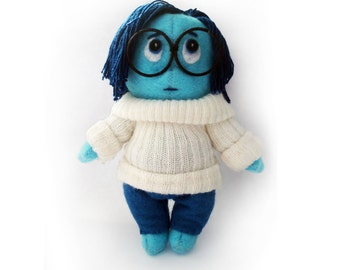 Sadness from Inside out PDF Toy Sewing Patterns and Tutorial