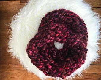 Chunky Knit Cowl {Cranberry Crush}