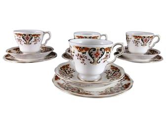 Colclough 'Royale' Cup Trio – Set of Four