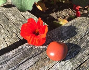 Red Japser Tumblestone, Healing Crystal, Gemstone, Reiki healing Tumblestone, Mineral, Unique Gifts
