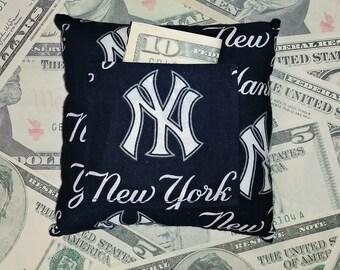 New York Yankees Fairy Pillow - Blue Money - Boys Gift Card Holder - Secret Pocket
