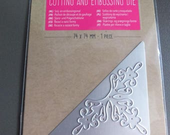 stencil and embossing arabesque corner cutting and embossing die cutting