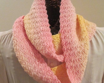 Pink Lemonade Hand-Dyed Infinity Scarf