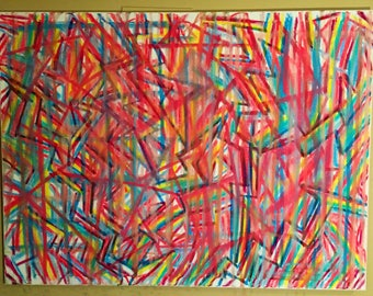 Jungle Abstract Painting 2017 36x48in.