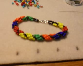 Primary Colors Spiral Bracelet