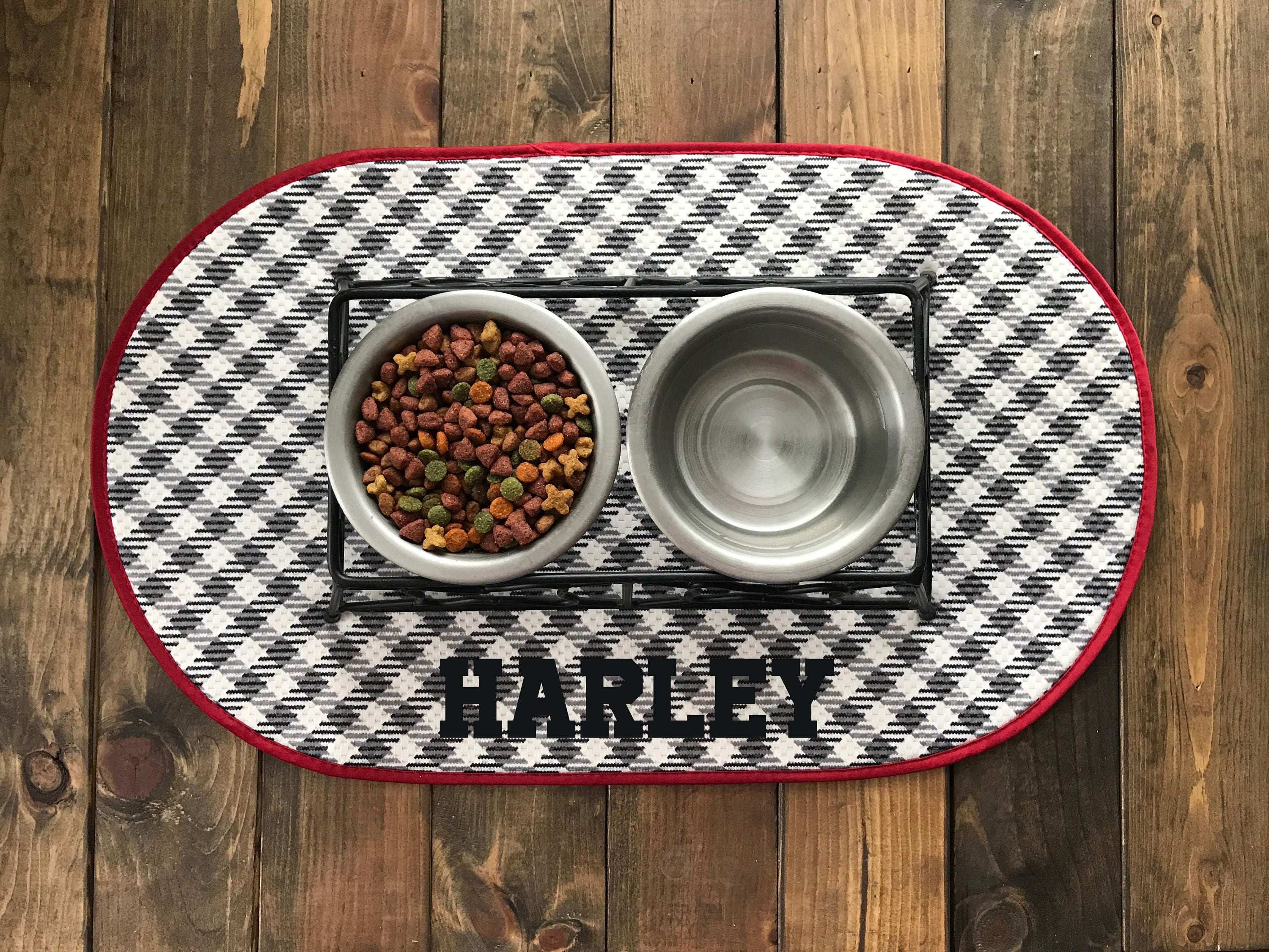 mats a make pet step mat bowl to canvas how with pictures steps