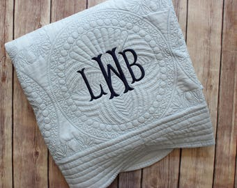 Monogrammed Baby Quilt, Personalized Baby Blanket, Personalized Baby Quilt, Monogrammed Baby Blanket, New Baby, Baby Boy Quilt, Blanket