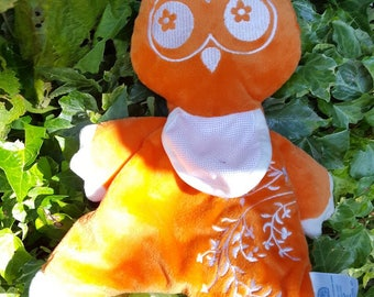 Orange OWL Plushie hand overcast