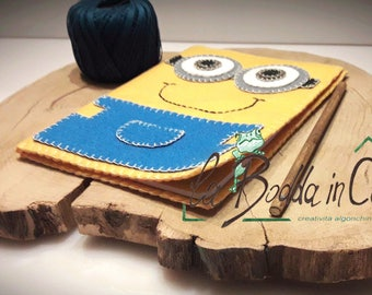 Hand sewn notebook cover Minions