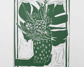 Be Well | Linoleum Block Print | Hand Pulled