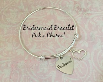 Bridesmaid Proposal,Bridesmaid Proposal Bangle Bracelet, Bridal Party Bracelet, Will you be Bridesmaid? Bridesmaid Gift Bracelet