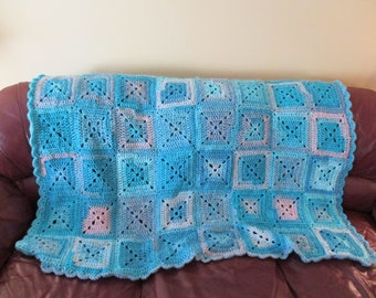 Cotton Candy Granny Square Blanket