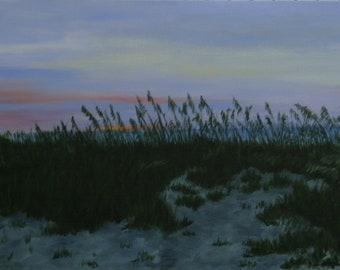Beach Grass Sunrise, 10 x 20 acrylic on canvas