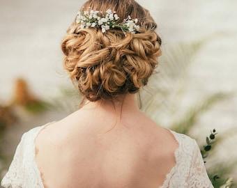 Eva Gypsophila and Diamante Hair Comb
