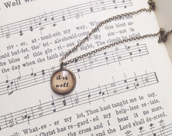 It is Well. Tiny Charm Necklace.