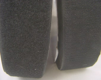 """hook and loop tape black both sides sew on 2"""" x 3yds (12 for 9) 4529P"""