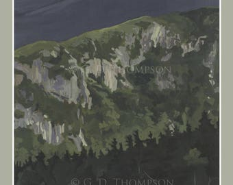 White Mountain National Forest Poster 11x17 or 8x12 print , Franconia Notch, Flume, Cannon, White Mountains, Mount Washington, New Hampshire