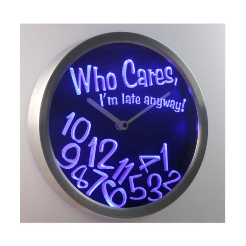 neon clock led uhr moderne wand uhr neuheit uhr neon wand uhr. Black Bedroom Furniture Sets. Home Design Ideas