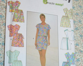 Simplicity 7138 Misses Top and Shorts Sewing Pattern - UNCUT  Sizes 12 14 16