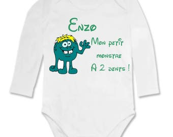 My little monster personalized with name Bodysuit
