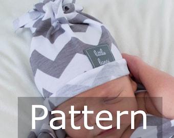 fringe hat. Tassel Hat PDF Pattern. baby hat sewing pattern. Printable. Little Lapsi. boy & girl. unisex beanie