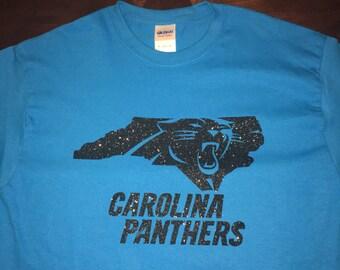 Glitter Carolina Panther T Shirt