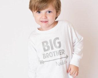 Big Brother Shirt – Toddler Shirt - Personalized Toddler Shirt - Personalized Big Brother Shirt– Toddler Tee - Sibling Shirt - Big Bro Tee