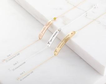 14k GOLD FILL | Dainty Medical Alert Bracelet | Medic Alert Bar Bracelet | Birthstone Allergy Bracelet | Custom Medical ID Bracelet