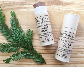 Tint Stick • TEAK • Nourishing Universal Lip + Cheek + Eye Tint • Stain • Mineral Blush • Natural Lip Stick • Cruelty Free