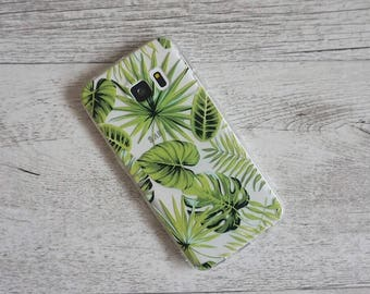 Rainforest Palm Tree Tropical Design Soft Mobile Phone Case - for;  for; Samsung Galaxy S6, S6 Edge, S7, S7 Edge, S8 & S8 Plus
