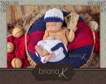 PATTERN Instant Download, Newborn Baseball Outfit