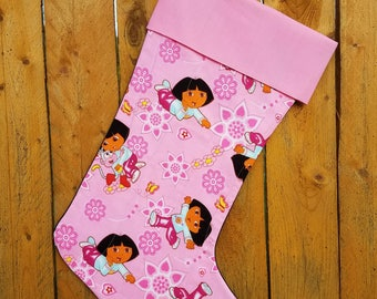 Dora The Explorer Quilted Christmas Stocking