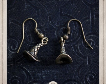 Wizard Hat earrings bronze Fantasia witch BOB051