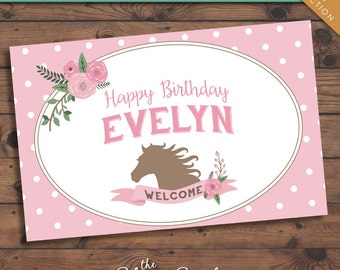 Pony Party -- Printable Party Sign -- Personalized