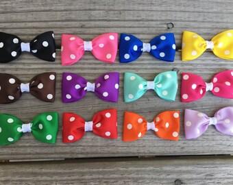Baby Bows / Polka Dot Bows / Small Bows / Small Polka Dot Bows / Hair Bows