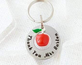 Apple for teacher, Teacher gifts, teacher, apple for teacher gifts, teacher keyring, apple keyring, apple gift, teacher gift, thank you gift