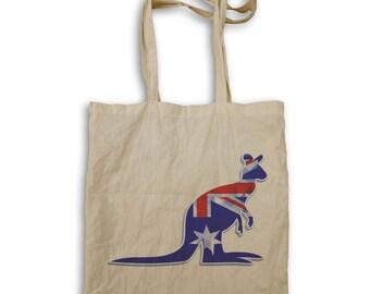 Australia day kangaroo Tote bag v732r