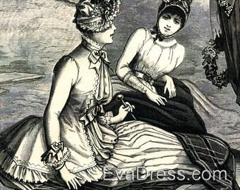 1885 Morning Dress Pattern by EvaDress