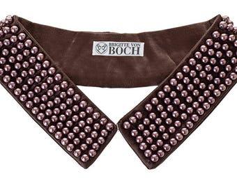 Ballykelly Pearl Collar Brown