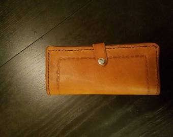 Ladies Long Wallet with snap closure