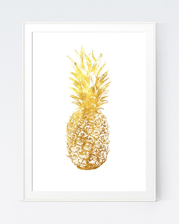 Gold Pineapple Gold Pineapple Print Home Decor Pineapple