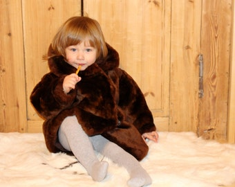 Kids cheepskin coat Kids fur coat Soviet vintage kids fur coat Vintage childs fur coat Kids cheep fur coat Vintage kids winter coat