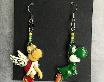 Handmade yoshi koopa earrings