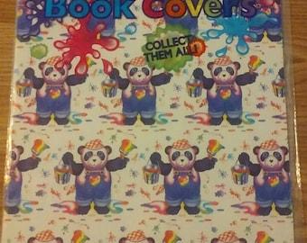 Lisa Frank pair koala & panda book covers New old stock 1989 sealed