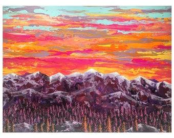Sunset Sky Over Sangre de Cristos