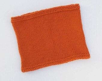 REDUCED! Knit neck warmer - orange