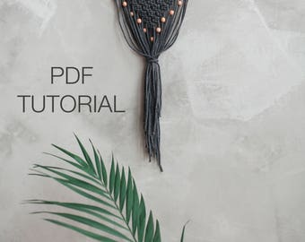 Scandi Macrame Pattern - Macrame DIY - Macrame Tutorial - Macrame Wall Hanging Pattern - Wall Hanging - Pattern - DIY - KNOT it Yourself