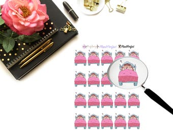 Harley Sleeps /Hedgehog Stickers. Perfect for your planning and scrapbooking needs!