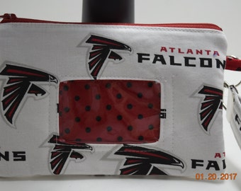 Clutch | ID wristlet | ID Clutch | Cellphone Clutch | Cell Phone Wallet | Credit Card Wallet | Coin Purse | NFL Falcons