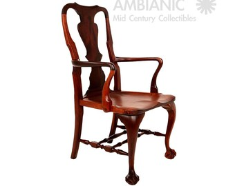 Solid Mahogany Chair Chippendale Style Claw Feet